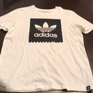 Men's Adidas White Shirt Size L Like New Condition